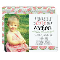 One in a Melon, First Birthday Invitation