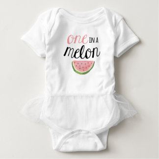 One in a Melon, First Birthday Outfit Baby Bodysuit