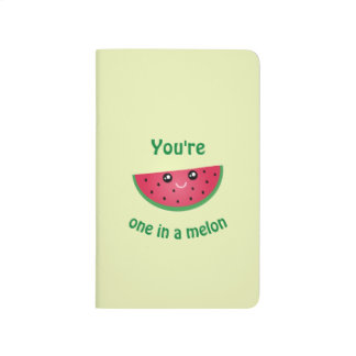 One In A Melon Funny Cute Kawaii Watermelon Journal