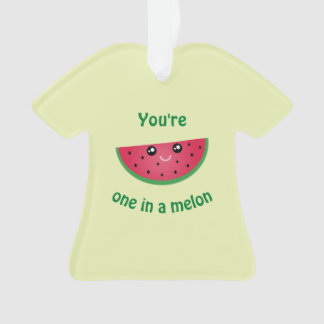 One In A Melon Funny Cute Kawaii Watermelon Ornament