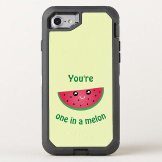 One In A Melon Funny Cute Kawaii Watermelon OtterBox Defender iPhone 8/7 Case