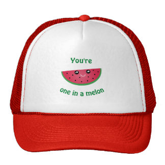 One In A Melon Funny Cute Kawaii Watermelon Trucker Hat
