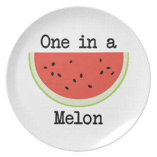 One in a Melon Melamine Plate