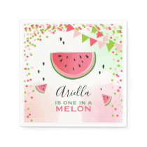 One in a melon Paper Napkins Summer Watermelon
