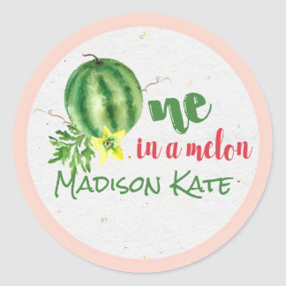 One in a Melon Personalized Birthday Stickers