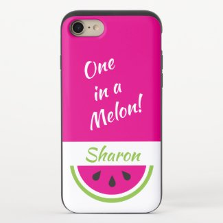 One in a Melon Personalized Watermelon iPhone 8/7 Slider Case