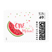 One in a melon Postage Stamps Watermelon Birthday