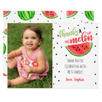 One in a Melon Thank You Card - Red