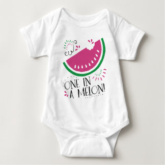 One in a Melon Watermelon Baby Baby Bodysuit