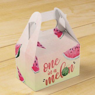 One in a Melon Watermelon First Birthday Favor Box
