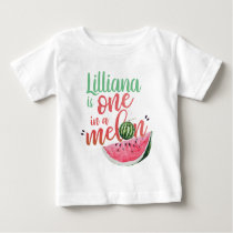 One in a Melon Watermelon First Birthday Shirt