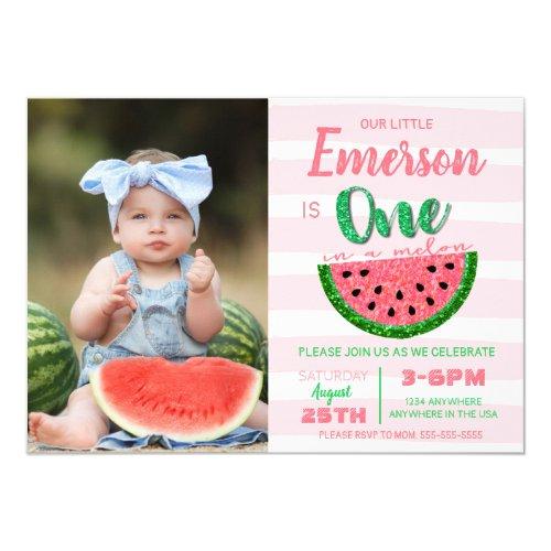 One in a melon watermelon invitation picture invitation