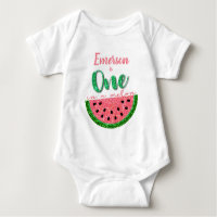One in a melon, Watermelon onsie, Birthday Shirt