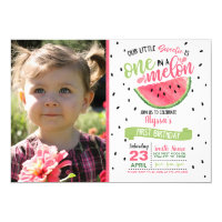 One In a Melon Watermelon Photo Invitation