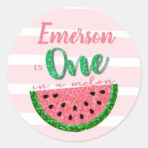 One in a melon Watermelon Sticker Label Tag