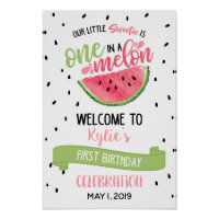 One in a Melon Welcome Sign