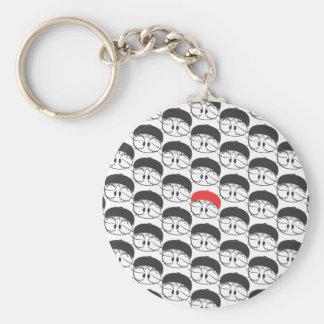 One in a million basic round button keychain