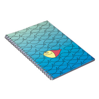 One in a Million Funny Cartoon Fish Notebooks