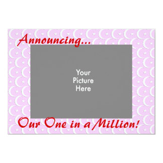 """One in a Million 5"""" X 7"""" Invitation Card"""