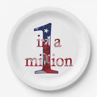 One in a Million Paper Plate