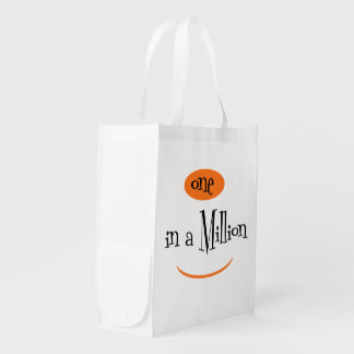 ONE IN A MILLION sac Réutilisable Reusable Grocery Reusable Grocery Bag