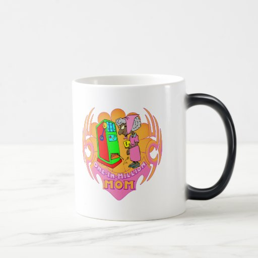 One In A Million Slot Machine Mothers Day Gifts 11 Oz Magic Heat Color-Changing Coffee Mug