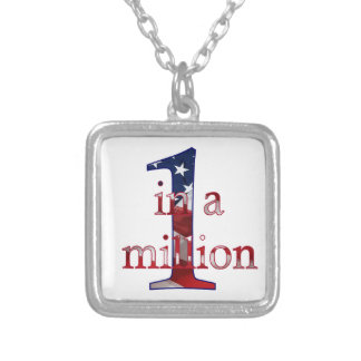 One In A Million Square Pendant Necklace
