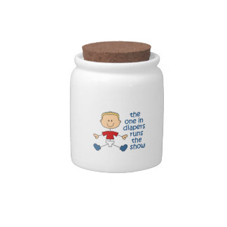 ONE IN DIAPERS RUNS SHOW CANDY JAR