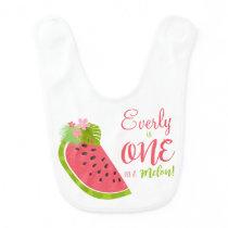 One In Melon Baby Bib Watermelon Baby Bib