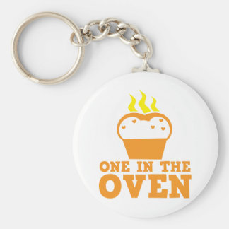 one in the oven basic round button keychain