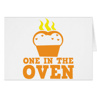 one in the oven card