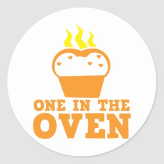 one in the oven classic round sticker