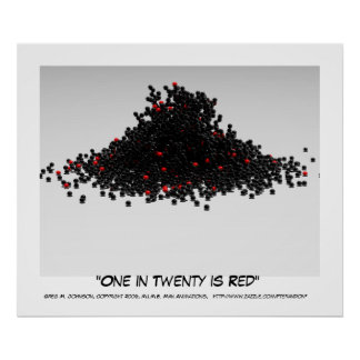 One in Twenty is Red Poster