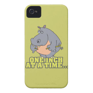 one inch at a time diet hippo humor iPhone 4 cover
