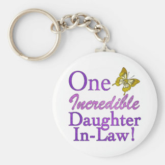 One Incredible Daughter-In-Law Basic Round Button Keychain