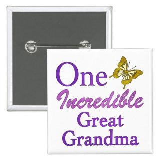 One Incredible Great Grandma Pinback Button