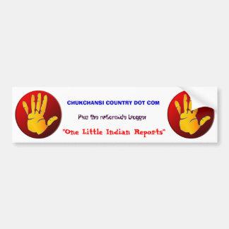 one indian bumper sticker