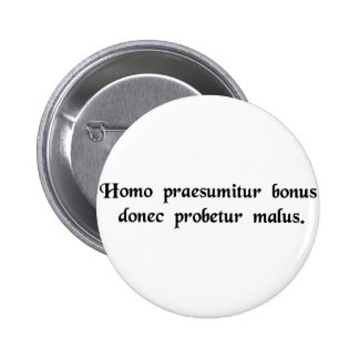 One is innocent until proven guilty button