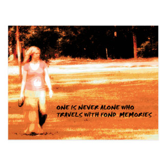 One is never alone postcard