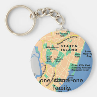 one island, one family basic round button keychain