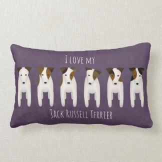 One Jack Russell Terrier looks guilty reversible Lumbar Pillow