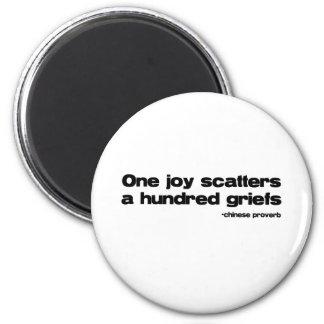 One Joy Quote 2 Inch Round Magnet