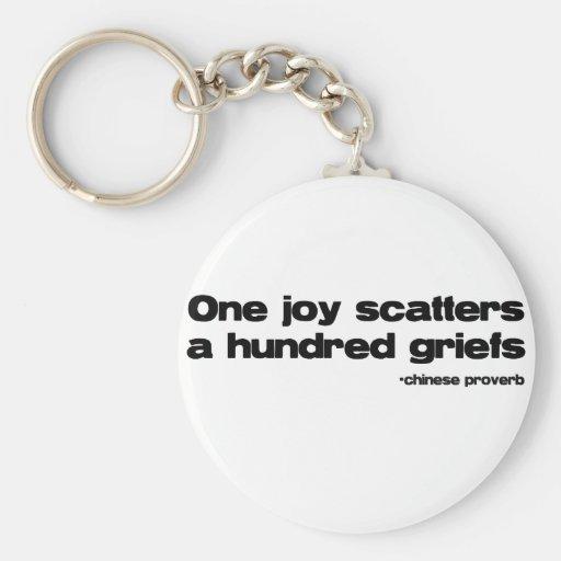 One Joy Quote Key Chains