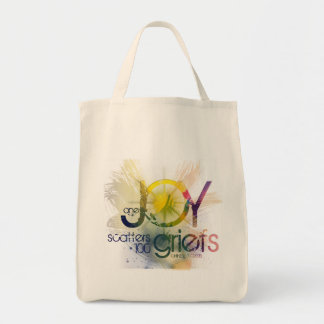 one joy scatters a hundred griefs grocery tote bag
