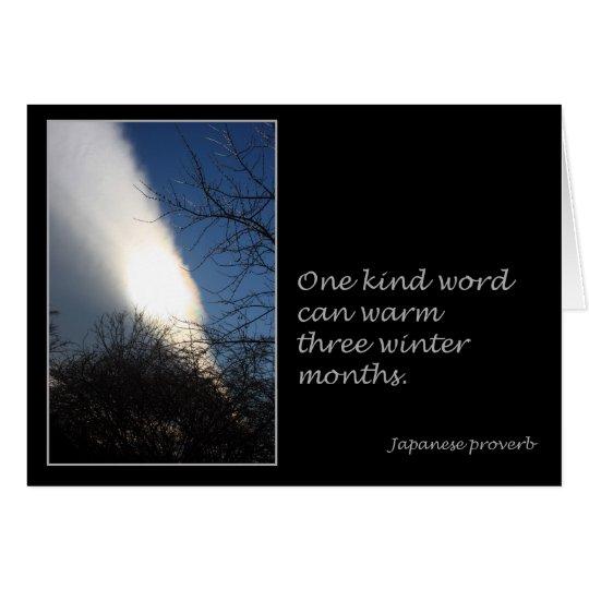 One Kind Word Card