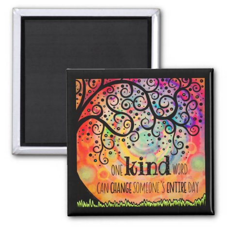 One Kind Word Tree Magnet