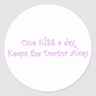 One KISS a Day Classic Round Sticker