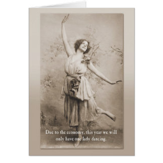 One Lady Dancing Card