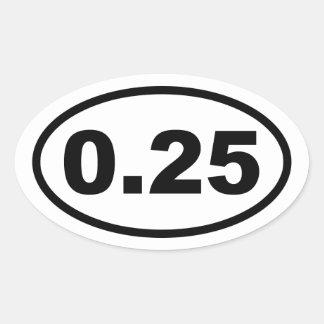 One Lap Oval Sticker