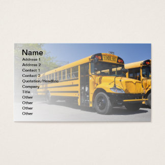 one large yellow school bus business card